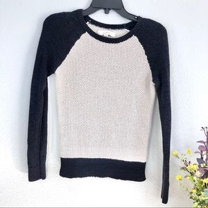 Loft textured stretchy knit sweater colorblock